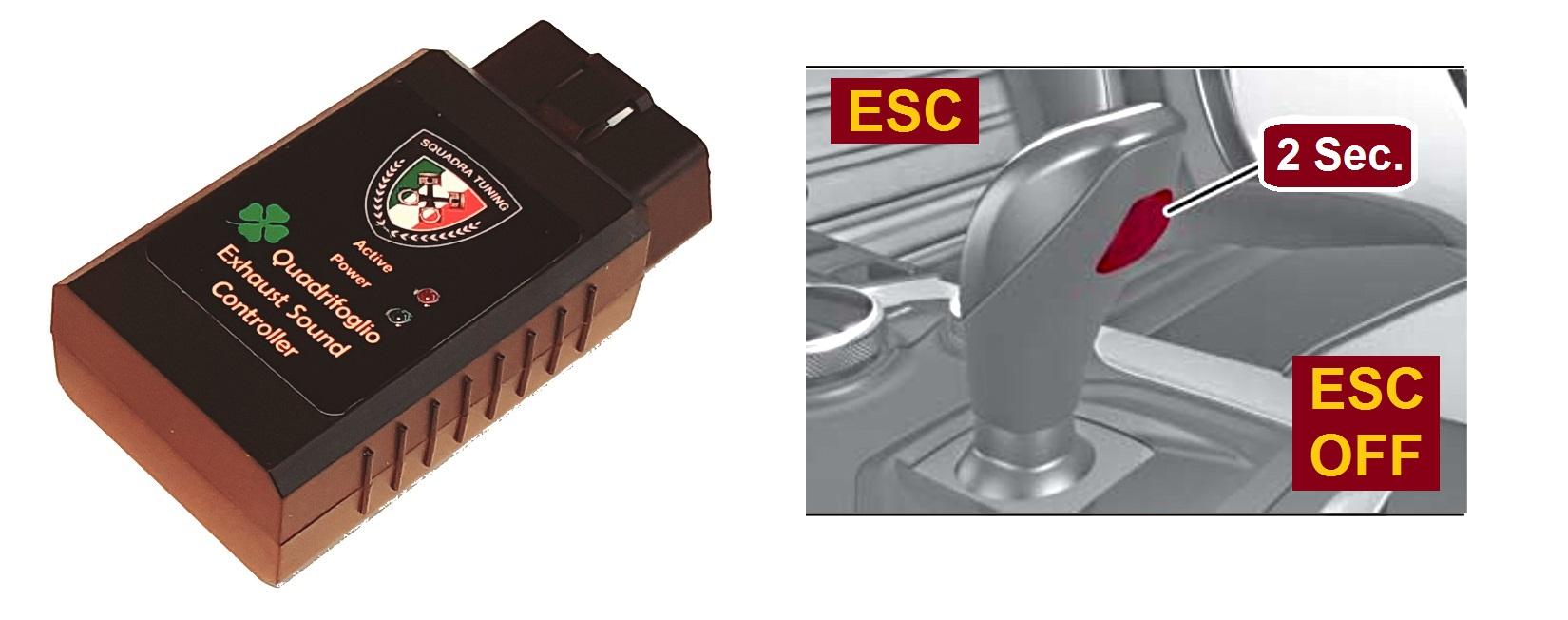 Quadrifoglio Exhaust Sound Controller Squadra Tuning